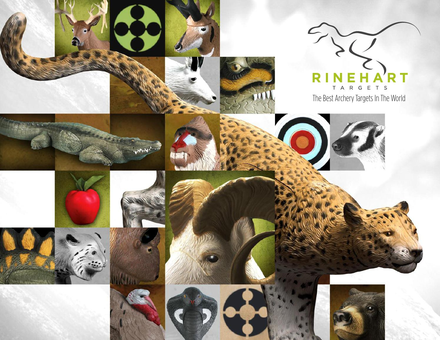 NEW Rinehart Targets 450 Red Fox Self Healing Predator Archery Hunting Target