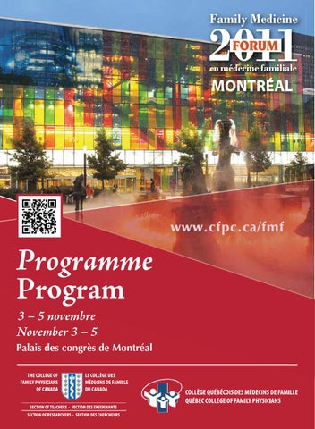 Family Medicine Forum 2011 Program By Family Medicine Forum Issuu