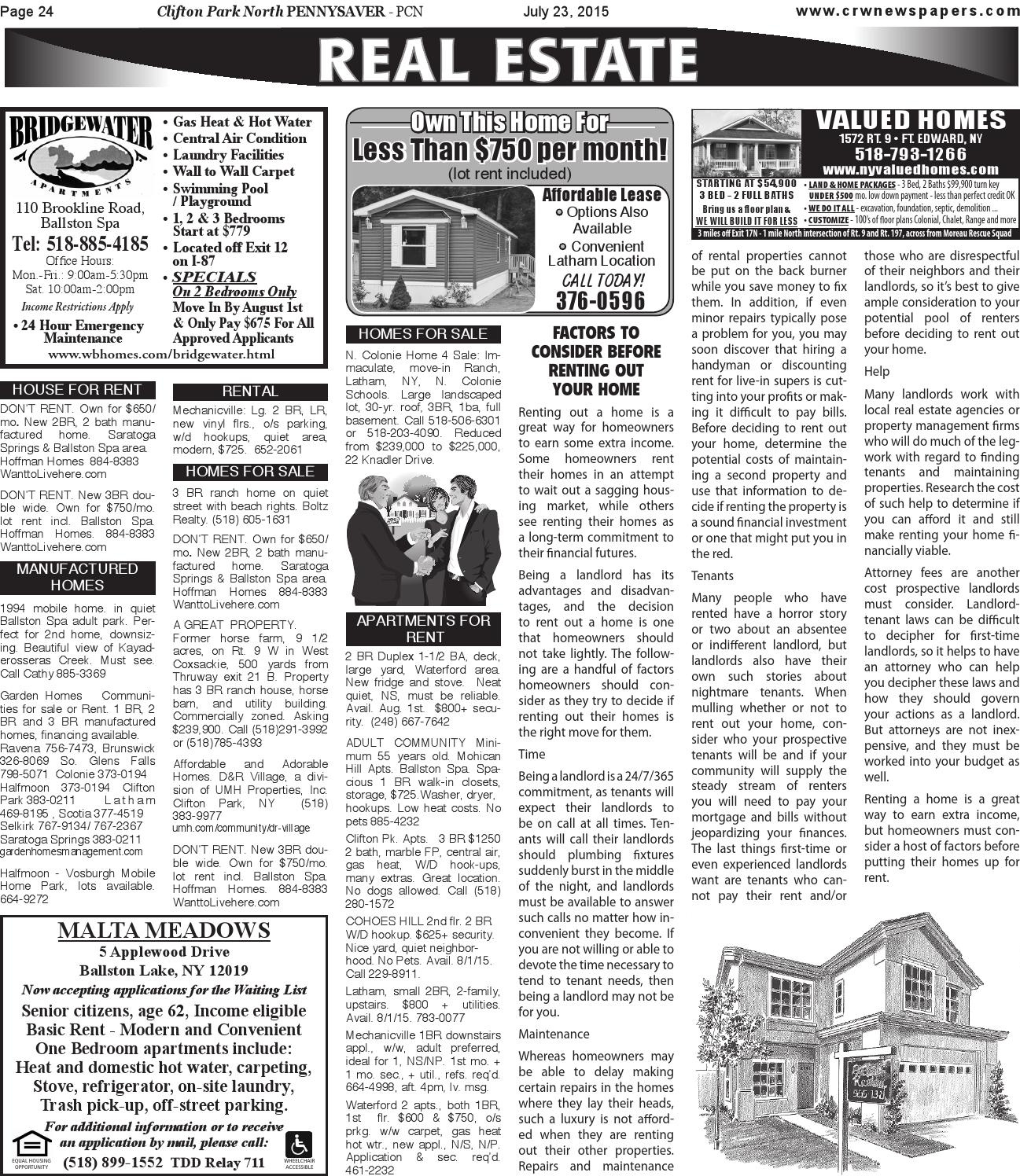 Clifton Park North Pennysaver 072315 By Capital Region Weekly Newspapers Issuu