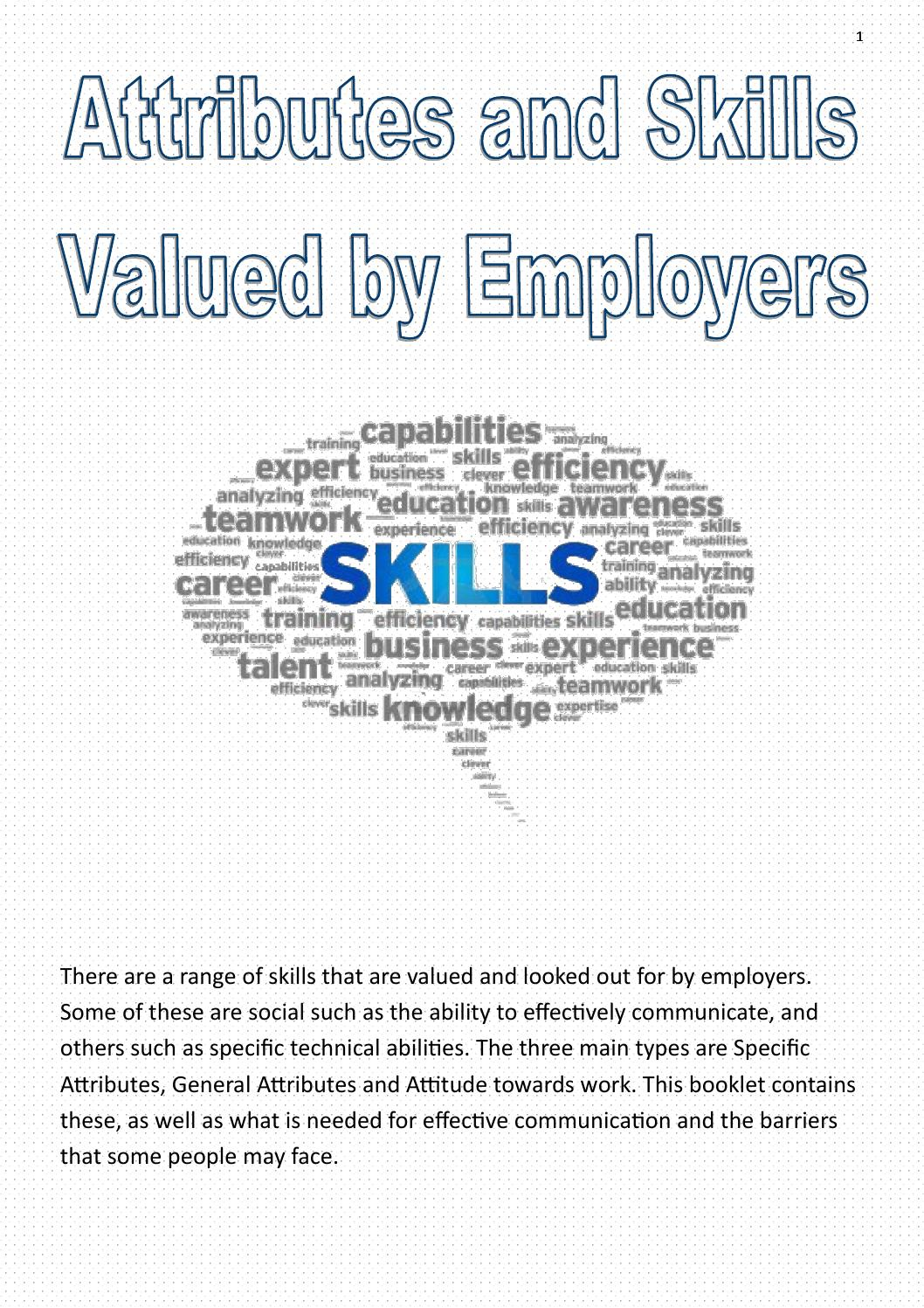 Attributes and Skills Valued by Employers by jordan - issuu