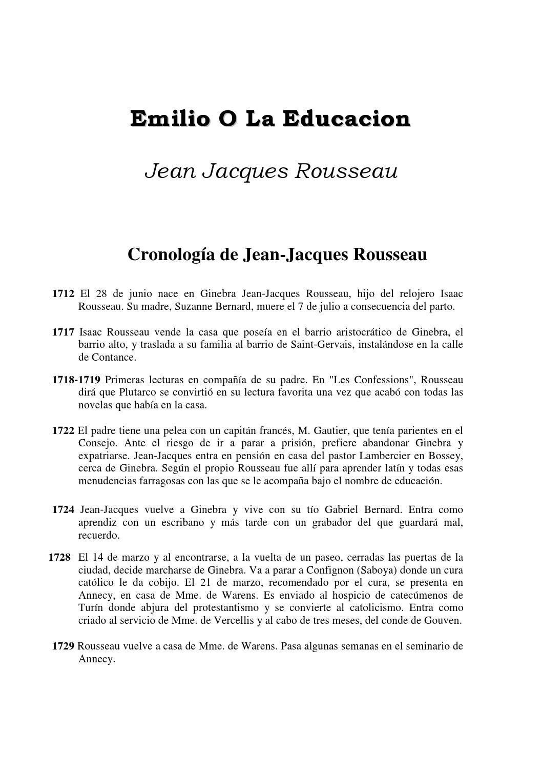 Emilio o de La Educacion rousseau by Alex Maigua Moreno - issuu