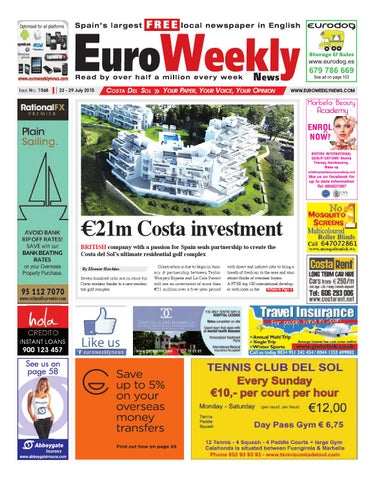 Euro Weekly News - Costa del Sol 23 - 29 July 2015 Issue 1568