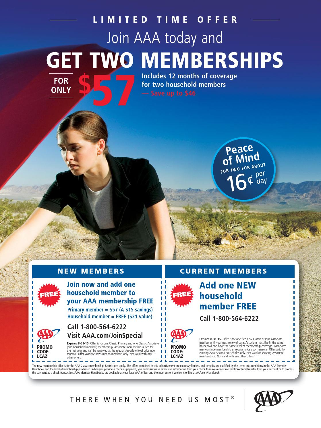 How to use a AAA coupon AAA offers a club membership that allows you to get miles of free towing, free emergency fuel, and other money-saving benefits. The company offers a $5 discount when you sign up for automatic credit card renewals. A membership with AAA also entitles you to savings on travel, dining, and shopping with other retailers.