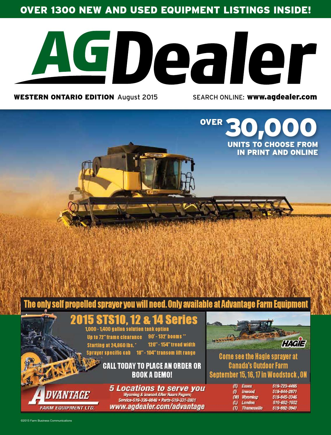 AGDealer Western Ontario Edition, August 2015 by Farm Business  Communications - issuu