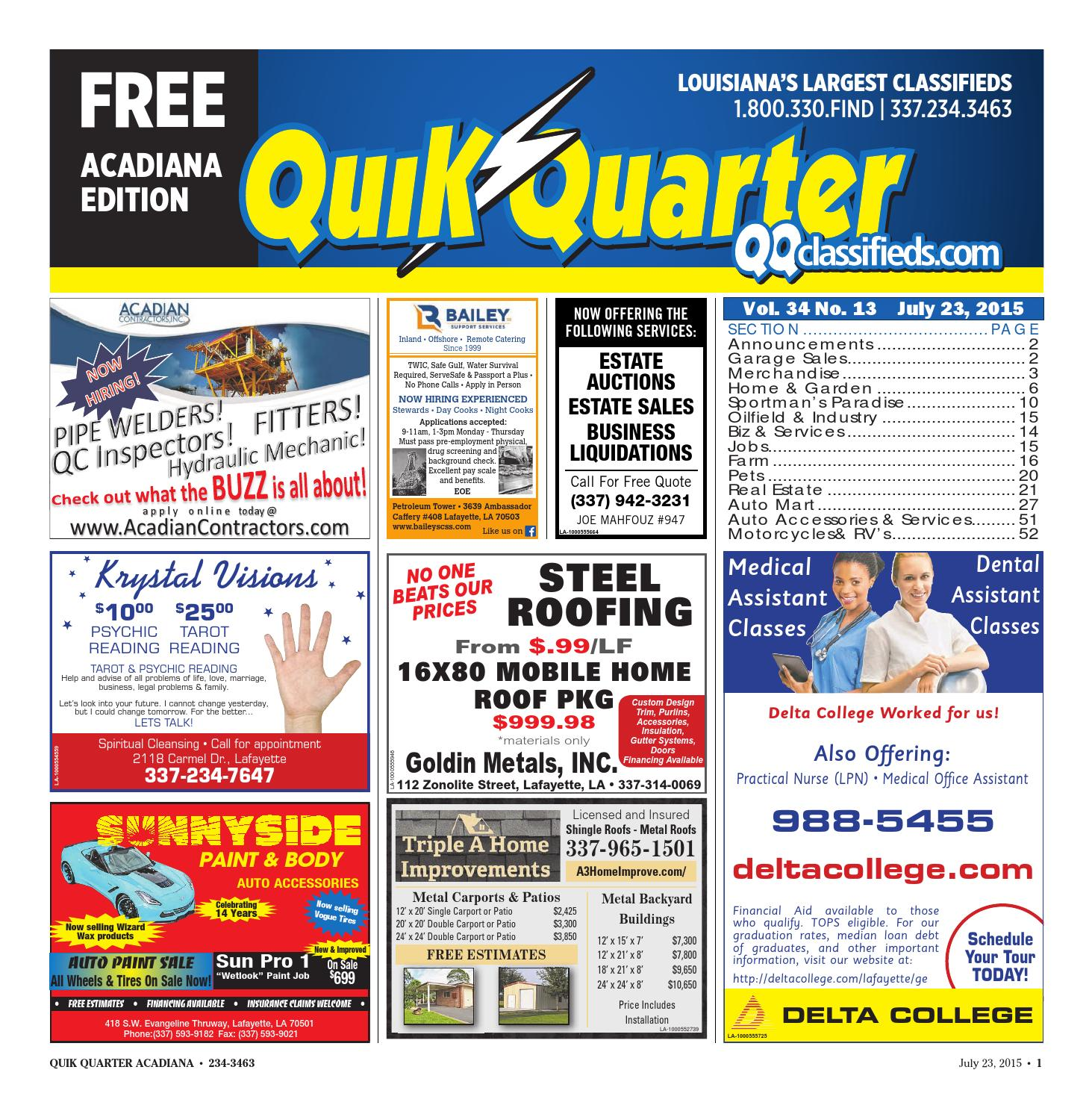 Quik Quarter Acadiana July 23 2015 by Part of the USA TODAY NETWORK