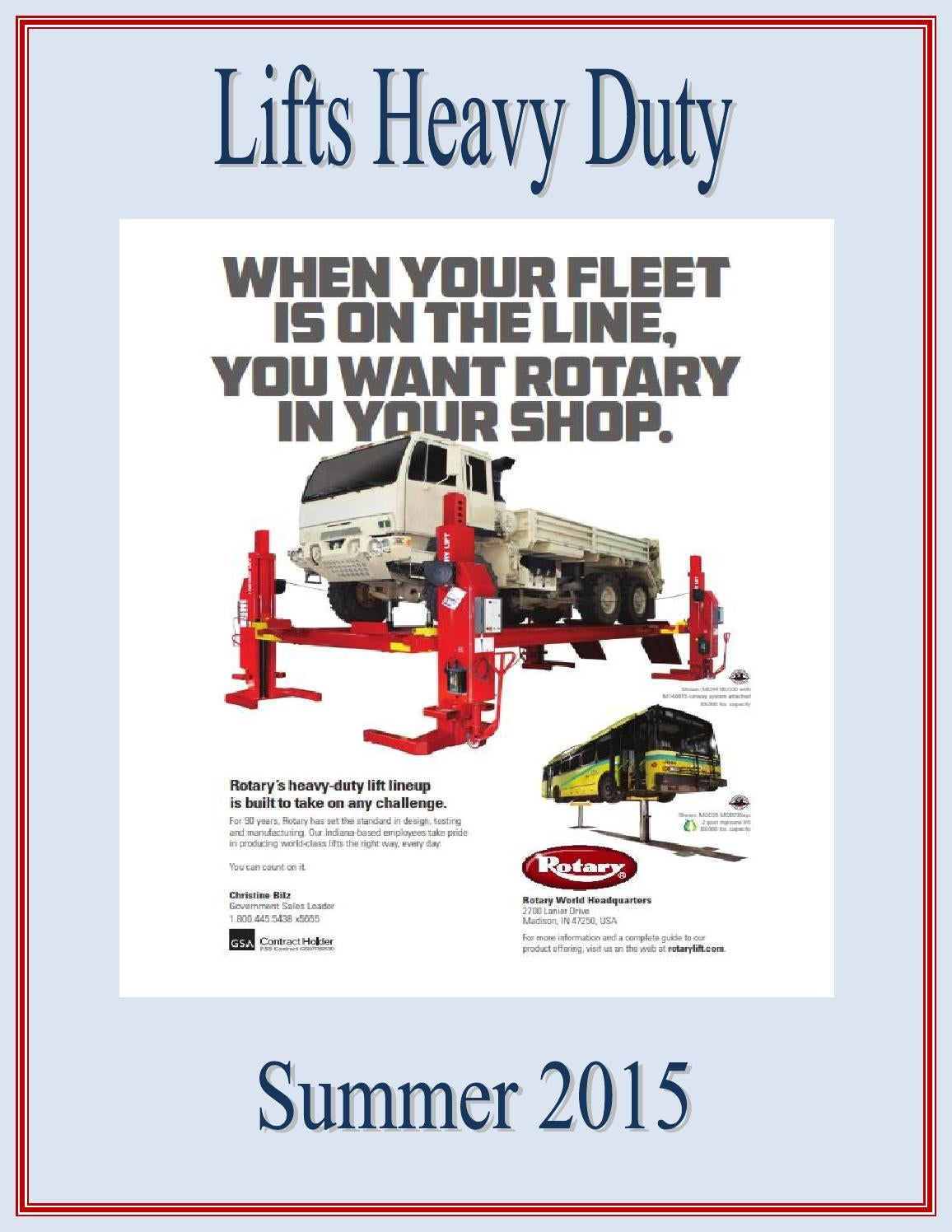Heavy Duty Lifts Source Book by Federal Buyers Guide, inc