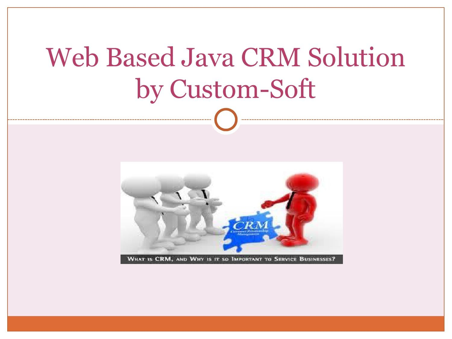 Web based java crm solution by custom soft ppt by Custom