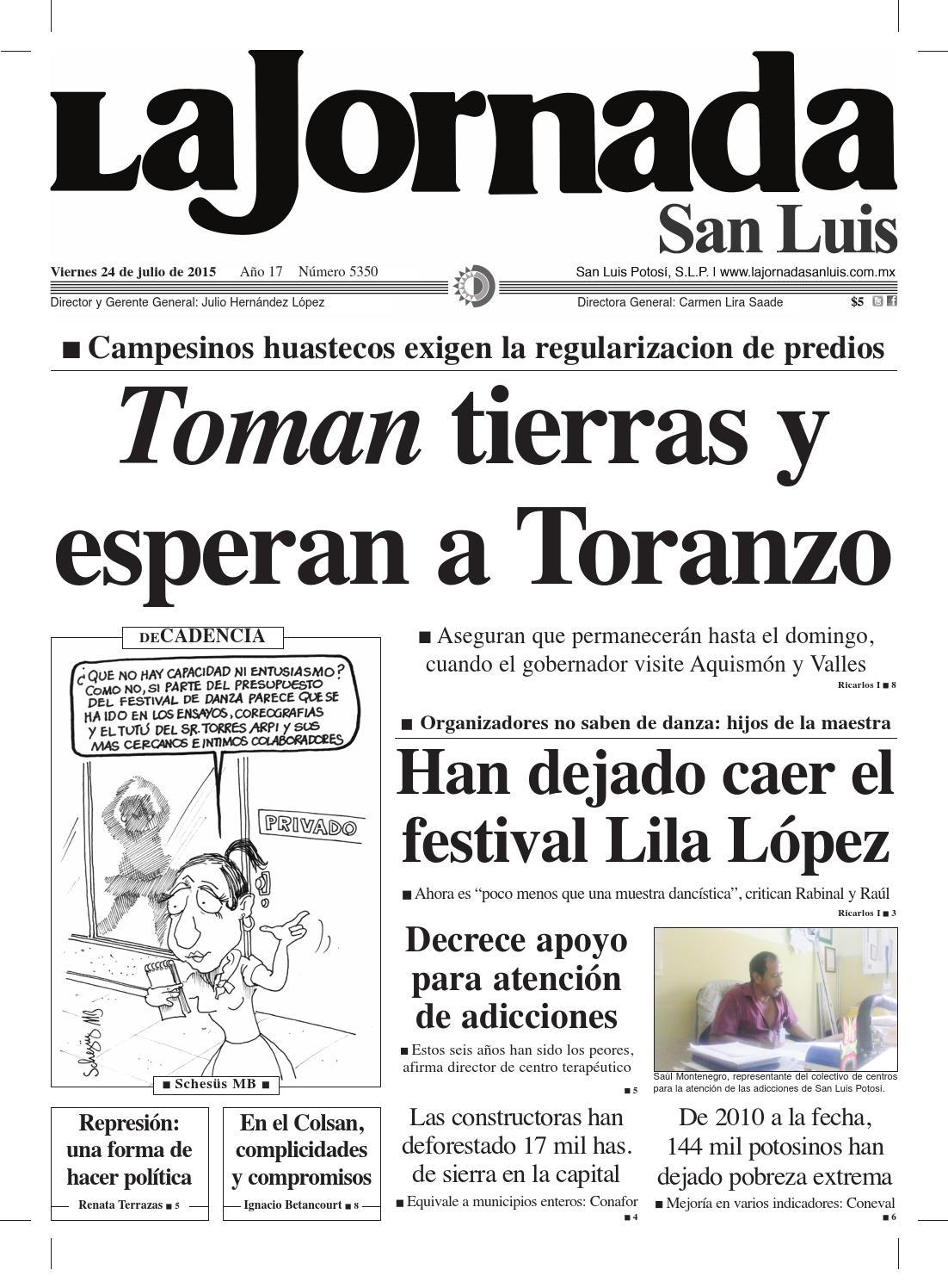 Toman tierras y esperan a Toranzo by La Jornada San Luis - issuu