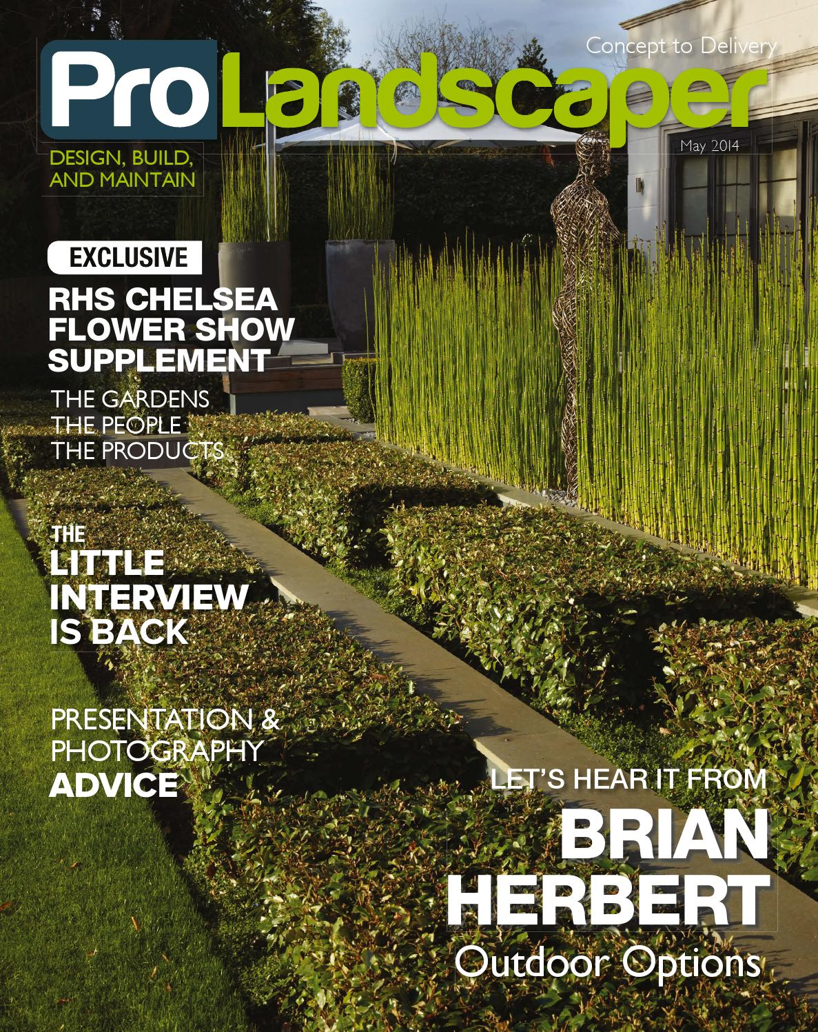 Pro Landscaper May 2014 by Eljays44 - issuu