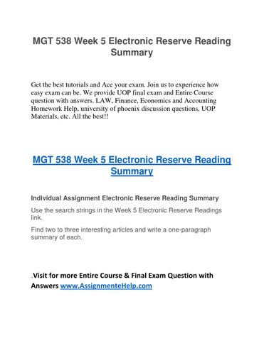 Contract and electronic reserve readings