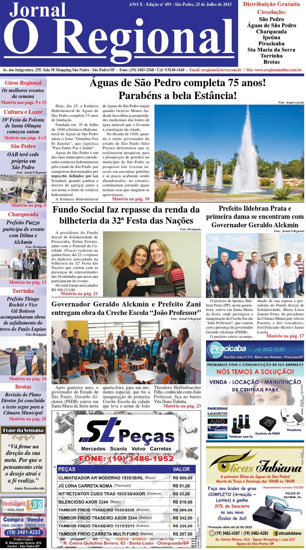 112cefdeb743e Jornal o regional edição 493 25 07 2015 by Jornal O Regional - issuu