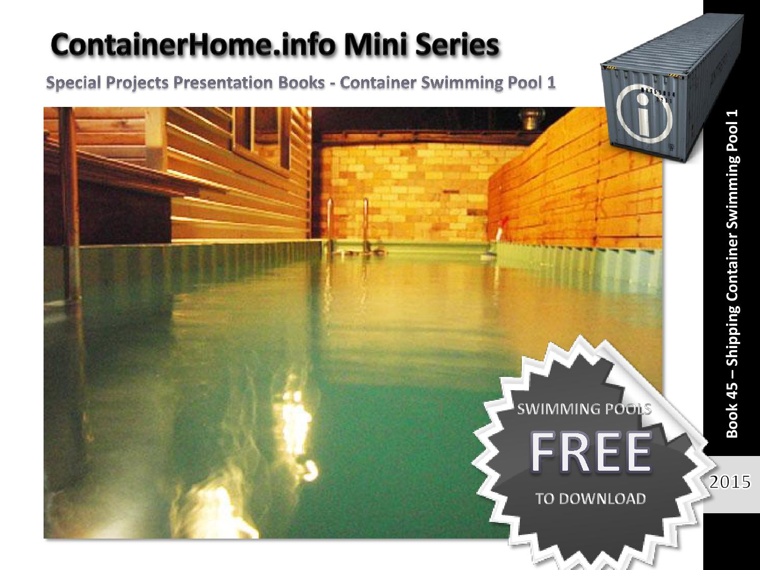 Shipping Container Swimming Pools Book 1 by ...