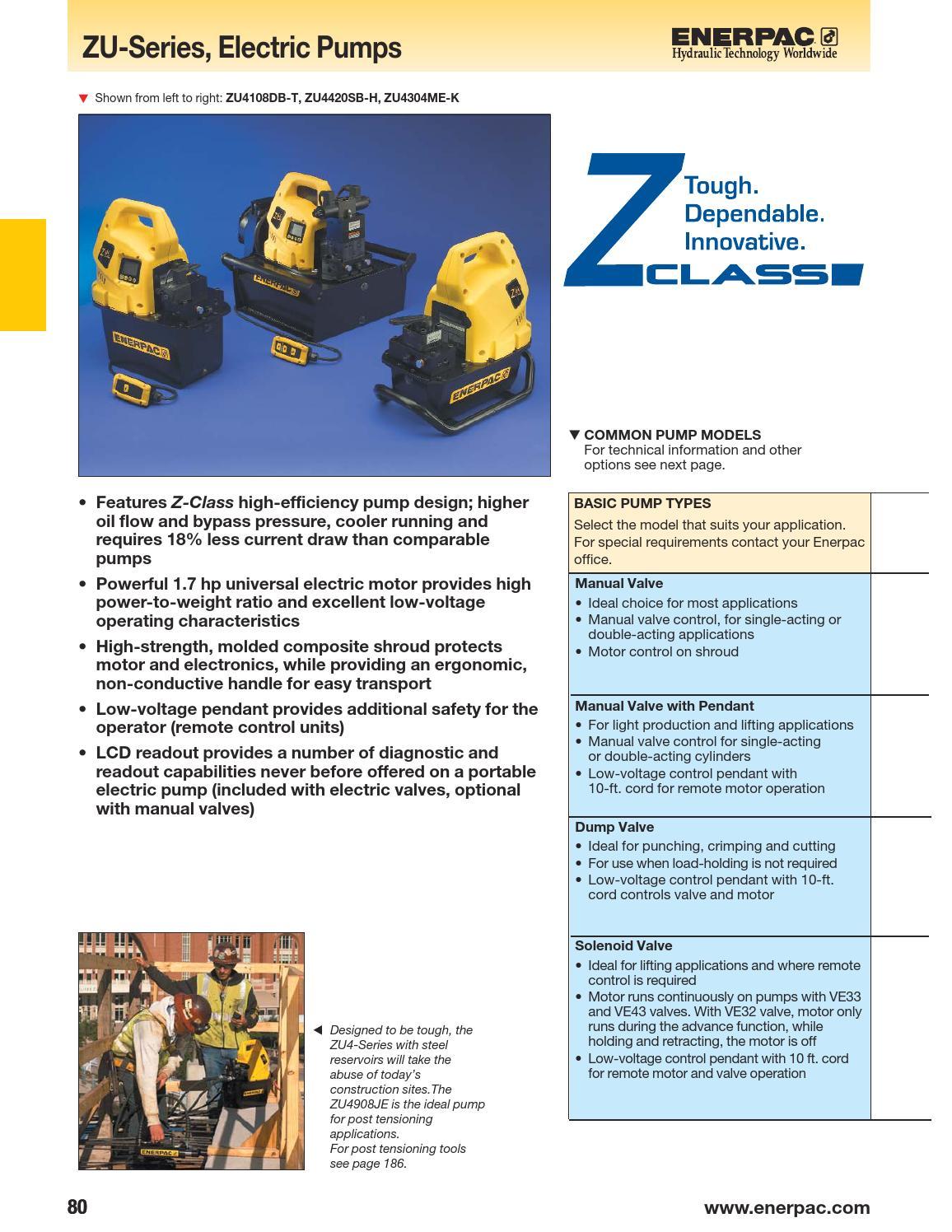 Enerpac zu series, electric pumps by jnarvaeze - issuu