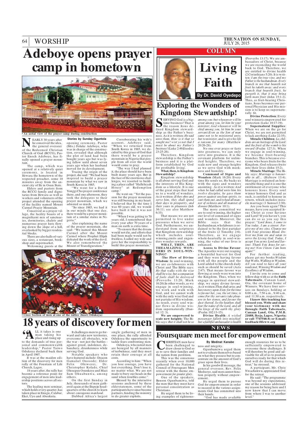 July 26,2015 by The Nation - issuu