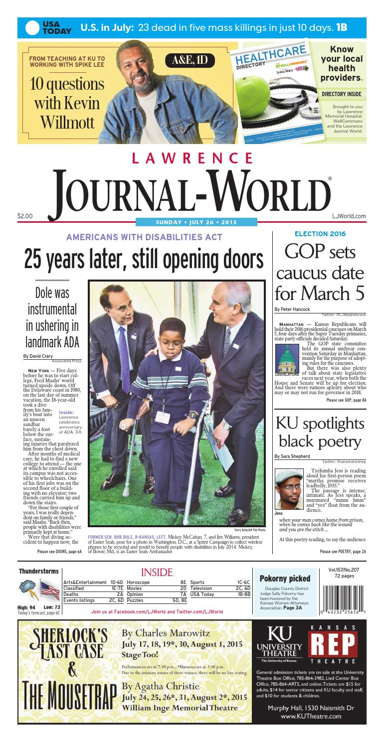 Lawrence Journal-World 07-26-2015 by Lawrence Journal-World