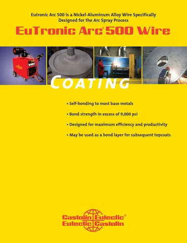 Eutronic arc spray 500 wire by Castolin Eutectic - issuu