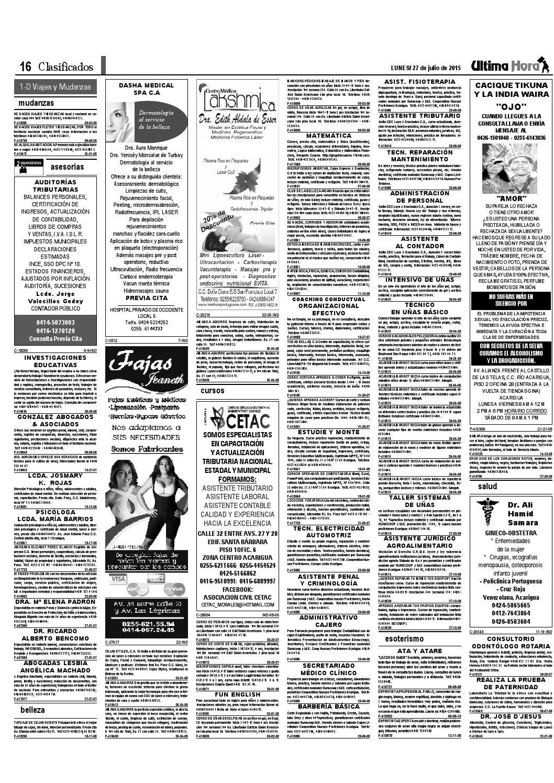 Edicion27 07 2015 by Ultima Hora - El primer diario de Portuguesa ...
