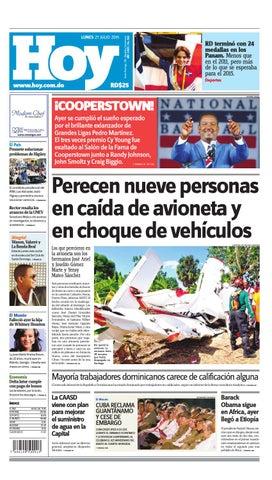 big sale 2232b 424a9 Periódico lunes 27 de julio de 2015 by Periodico Hoy - issuu