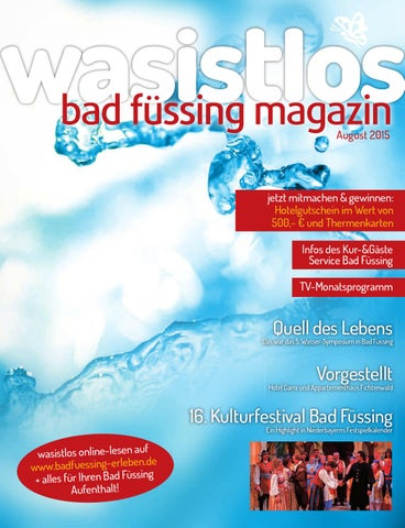 6f96324c96292f Wasistlos Bad Füssing Magazin august 2015 by remark marketing + ...
