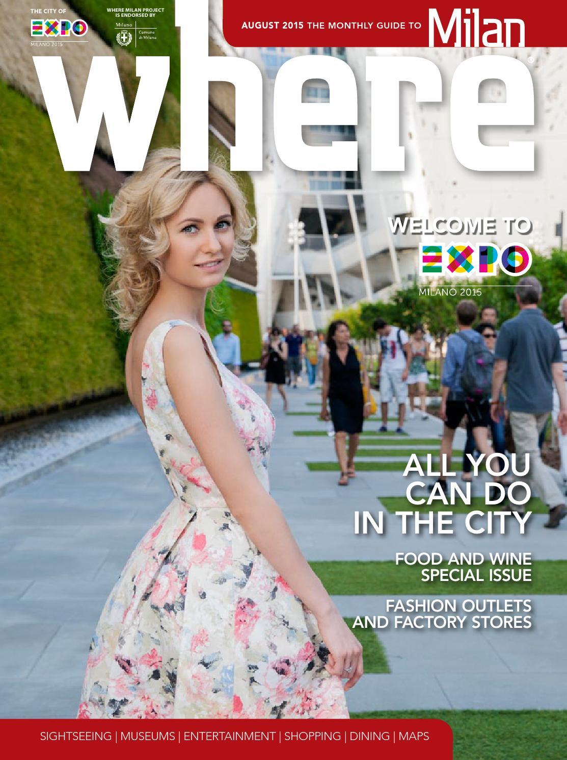 Where Milan n 58 August 2015 by Where Italia - issuu 826f36982e8