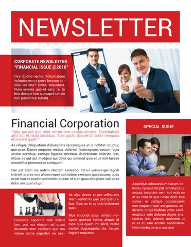Corporate Newsletter Template By Voryu  Issuu