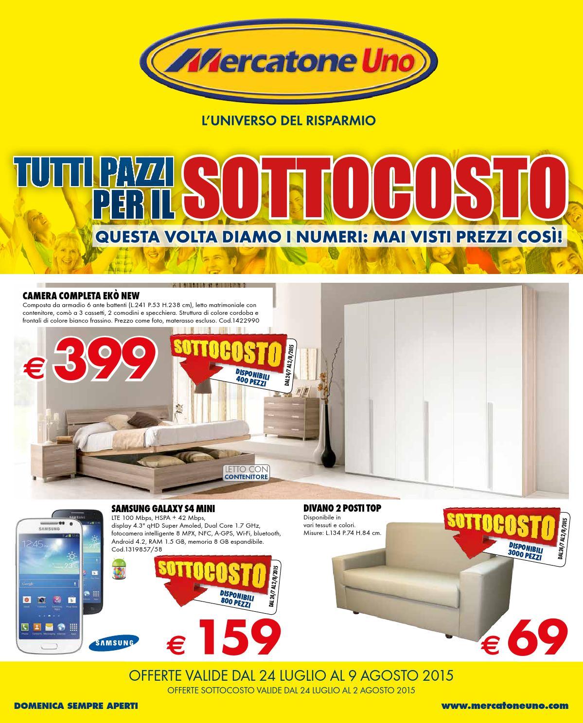 Mercatoneuno catalogo 24luglio 9agosto2015 by for Mobili mercatone uno