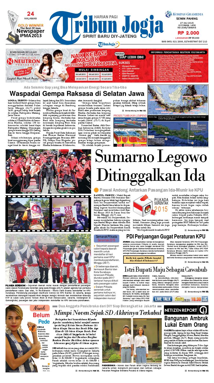 Tribunjogja 27 07 2015 By Tribun Jogja Issuu Produk Ukm Bumn Kain Batik Middle Premium 3 Bendera 01