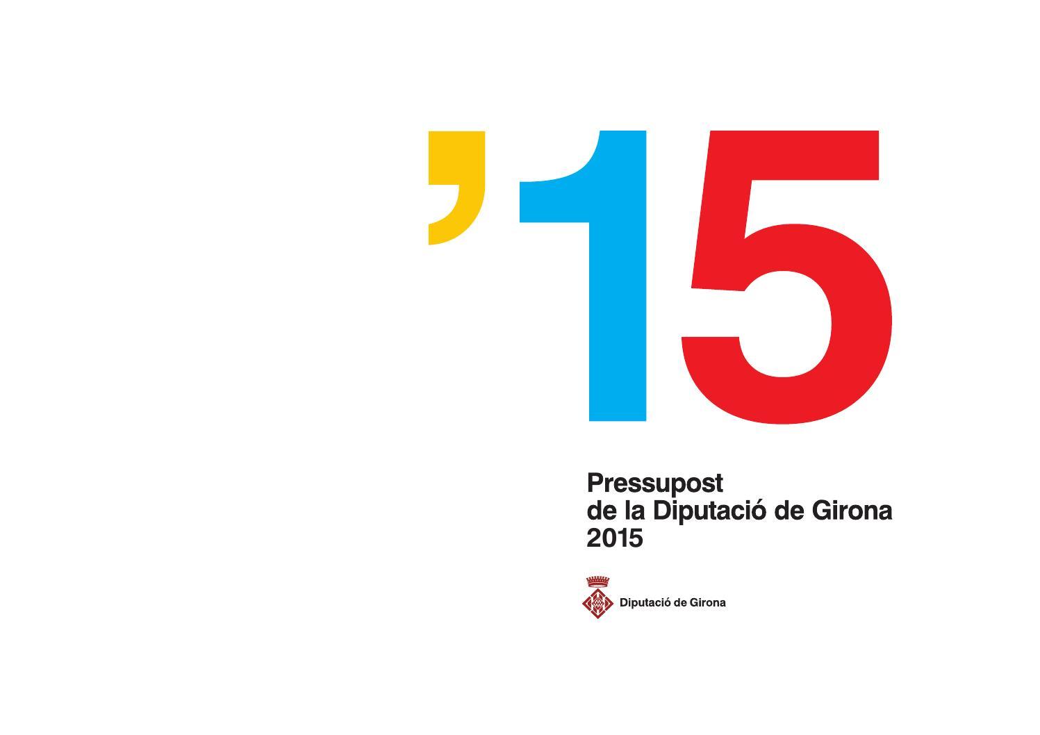 Diputaci de girona pressupost 2015 by diputaci de for Oficina habitatge girona