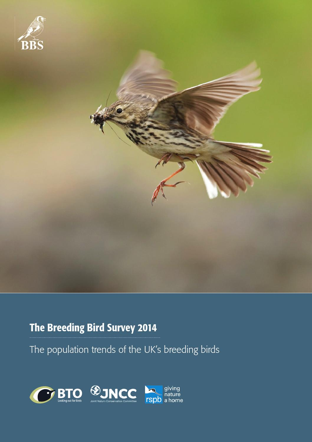 Breeding Bird Survey Report 2014 by British Trust for Ornithology