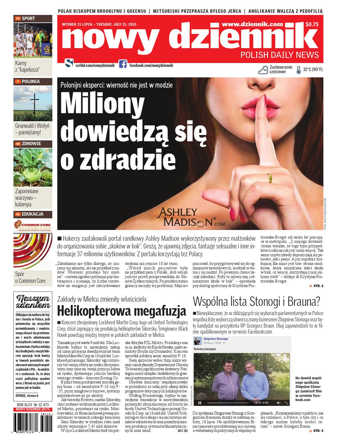 Bilet randkowy Ashley Madison