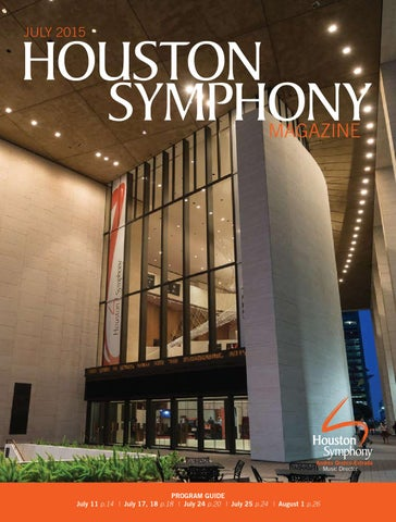 Houston Symphony Magazine July 2015 By