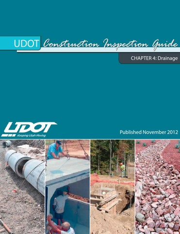 Udot Construction Inspection Guide Chap 4 By Tlcs Issuu