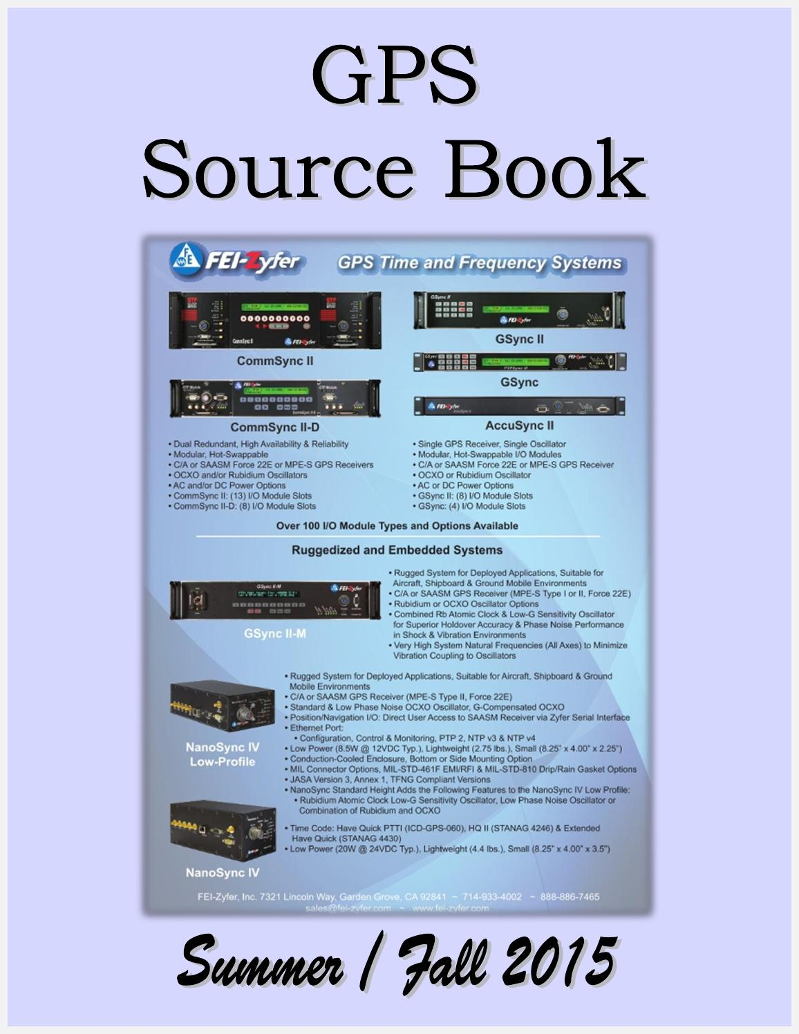 GPS Source Book by Federal Buyers Guide, inc. - issuu