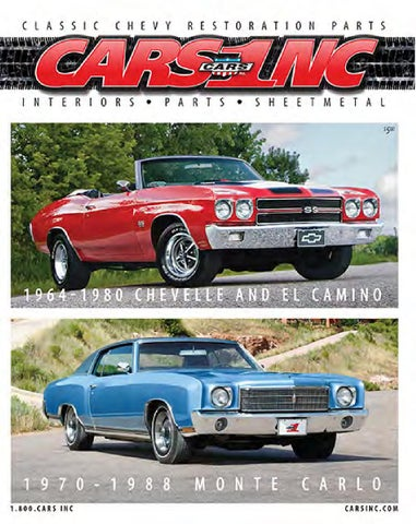 CARS Inc  Chevelle, El Camino and Monte Carlo Catalog by