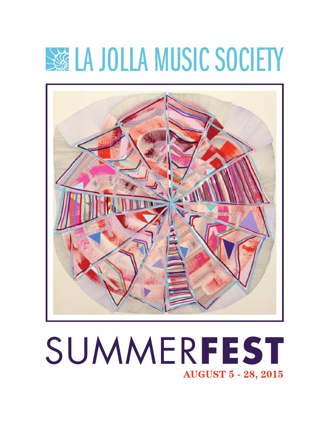 La Jolla Music Society SummerFest Program Book By La Jolla - Invoice template in word resmed online store