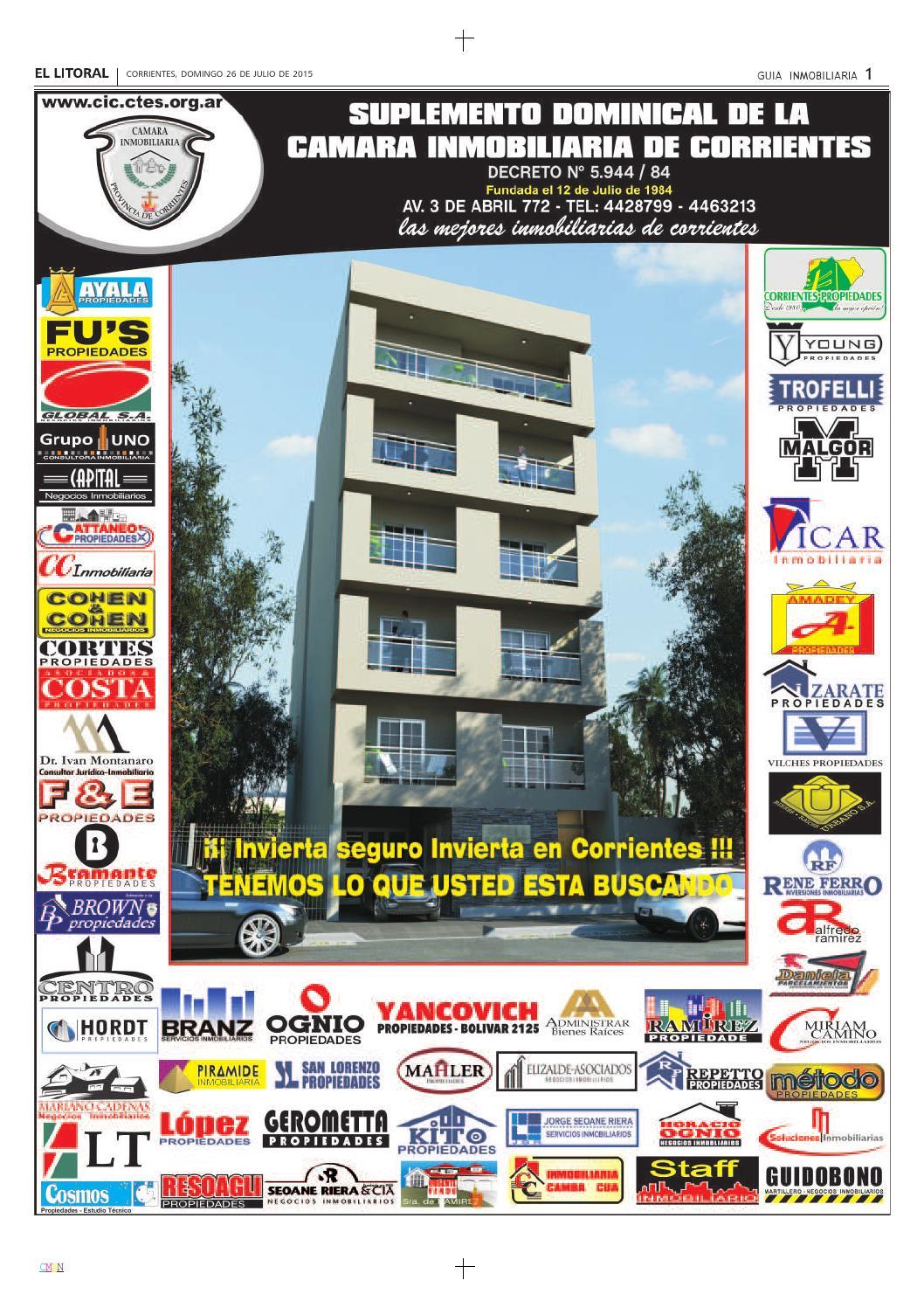 C mara inmobiliaria 26 07 2015 by diario el litoral issuu for Guia inmobiliaria