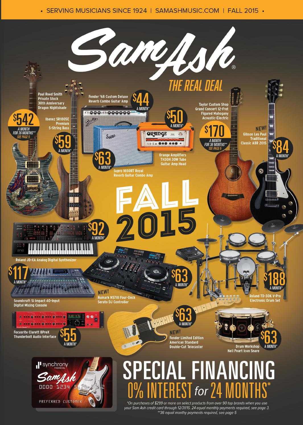 Sam Ash Music Fall 2015 Catalog By Corp Issuu Gibson Les Paul Pots Wiring Switch Coil Tap With 15db Boost Solderless
