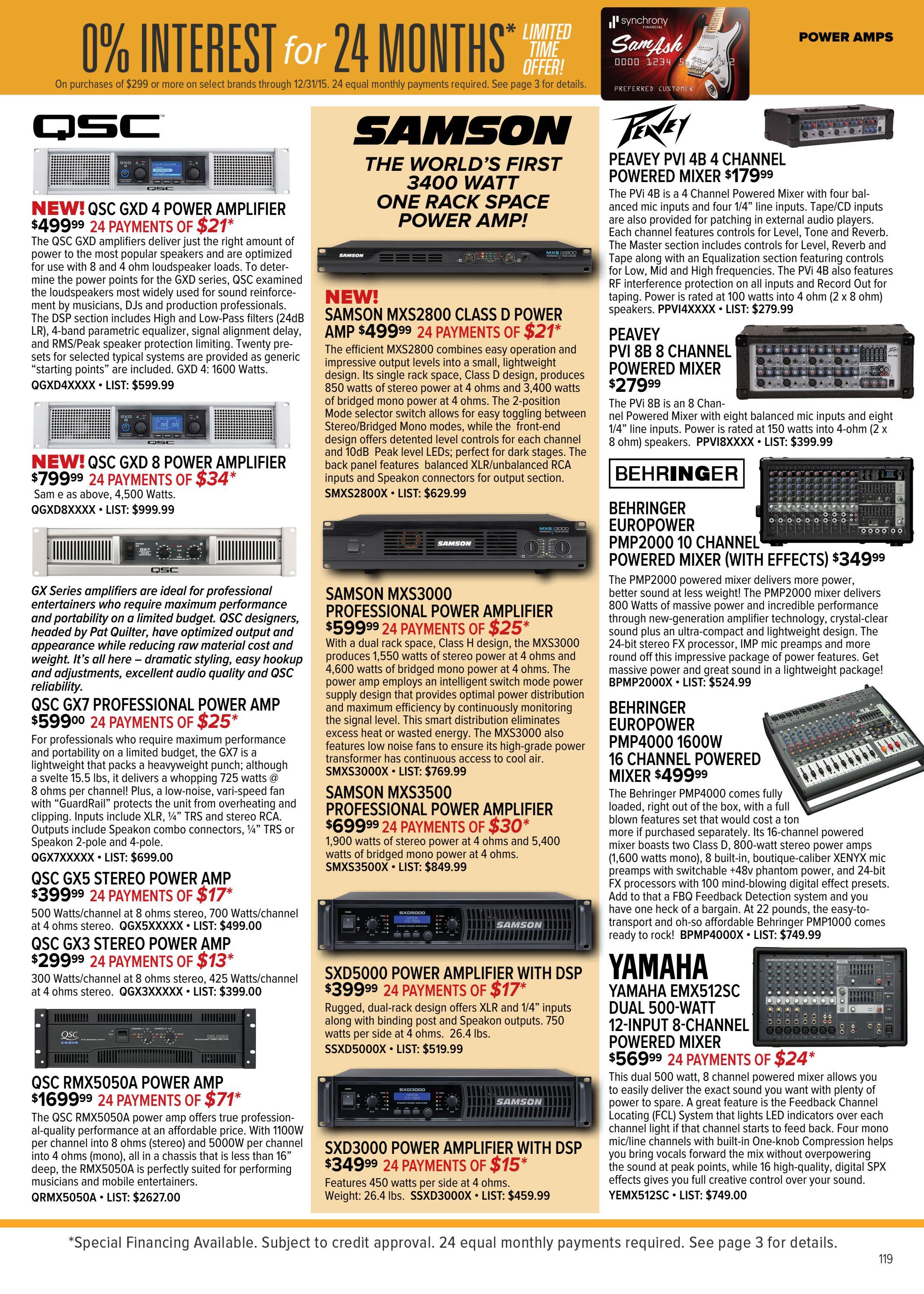 Amplifier brands list