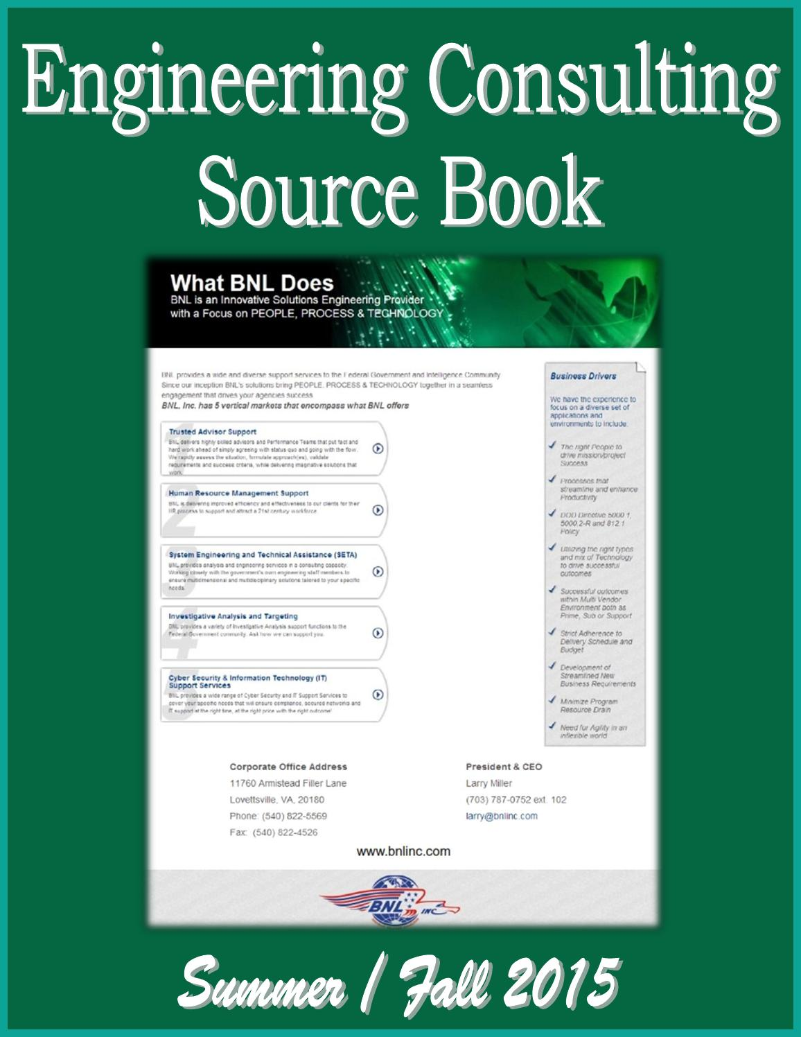 Engineering consulting source book by federal buyers guide inc issuu fandeluxe Gallery