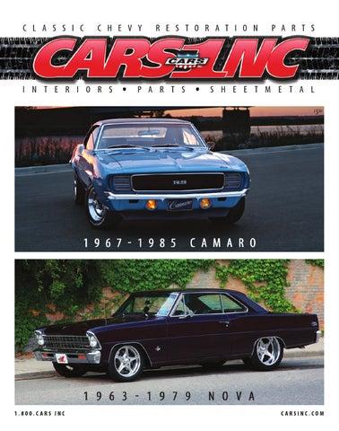 CARS Inc 1967 1985 Camaro And 1963 1979 Nova Catalog V15 By