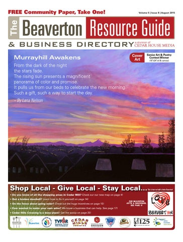 BRG August 2015 By Beaverton Resource Guide