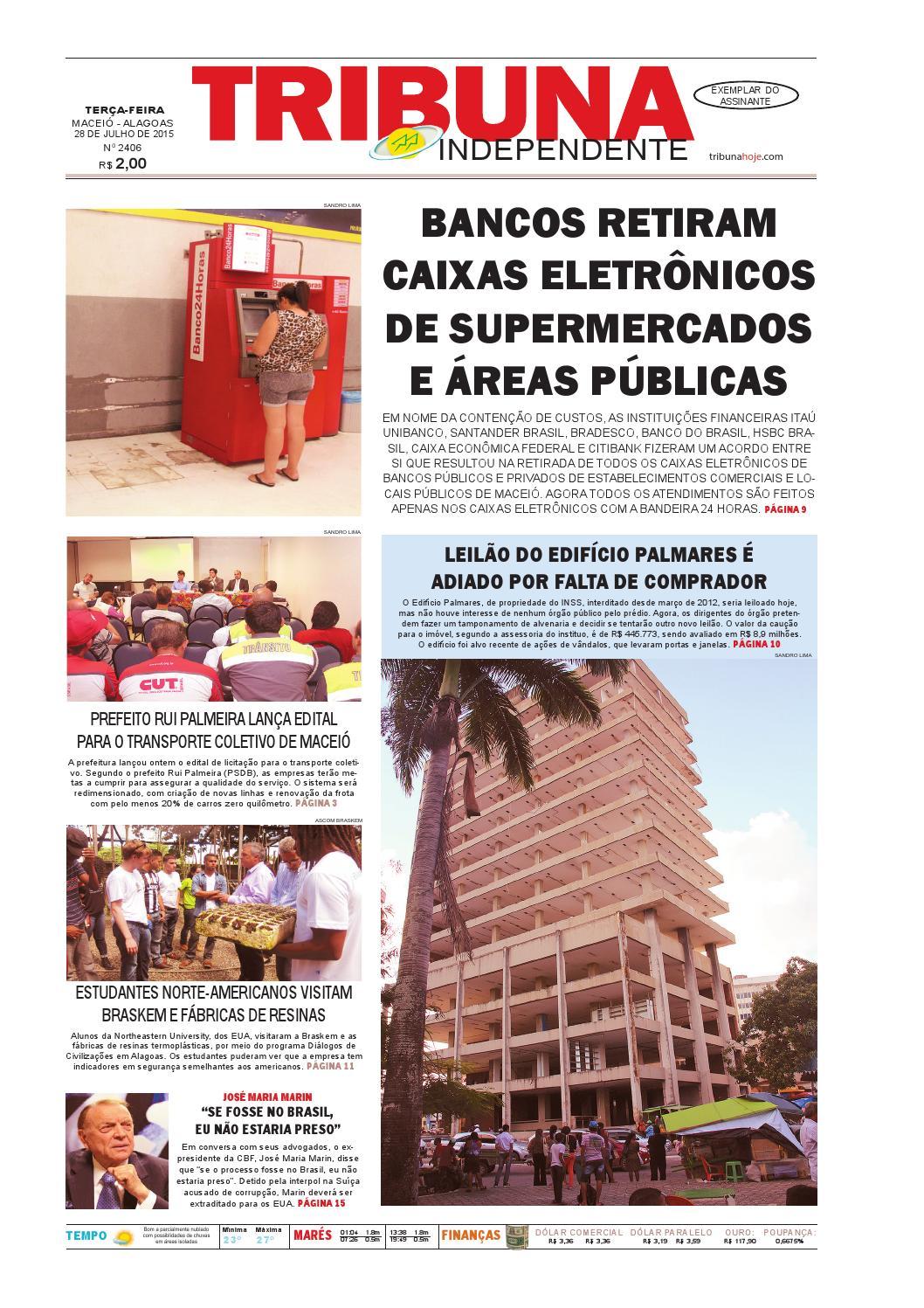 c07f62aff0c Edição número 2406 - 28 de julho de 2015 by Tribuna Hoje - issuu