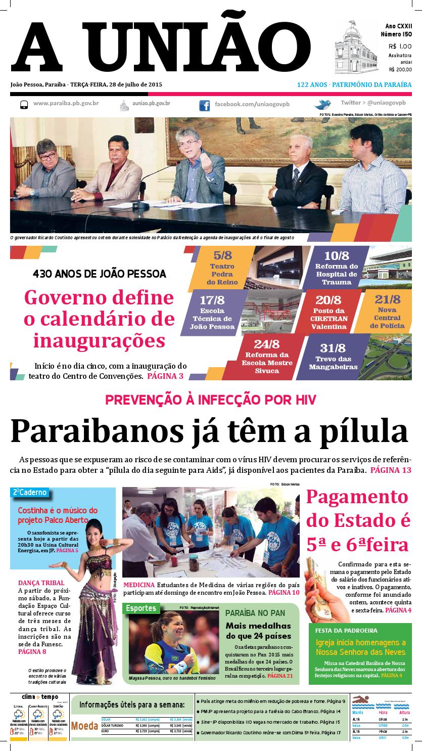 Jornal A União - 28 07 2015 by Jornal A União - issuu 271dd2276f