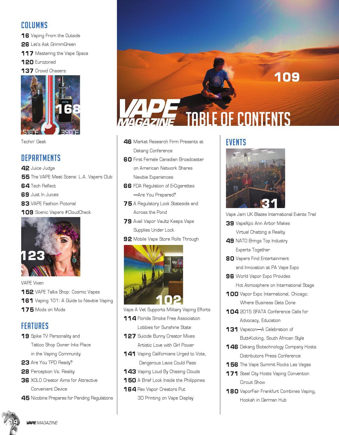 Vape Magazine August 2015 by Matt Schramel - issuu