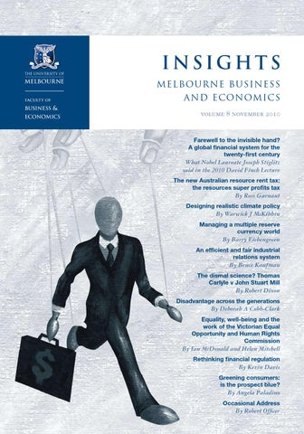 Insights Volume 8 November 2010 By The Faculty Of Business And