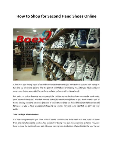 Germany second hand shoes online by