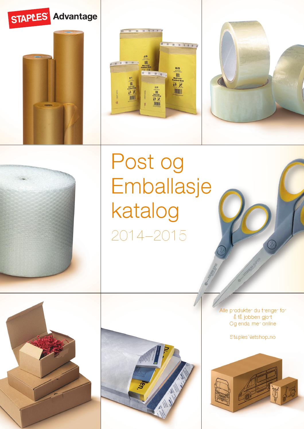 post og emballasje katalog 2014 2015 by staples advantage. Black Bedroom Furniture Sets. Home Design Ideas