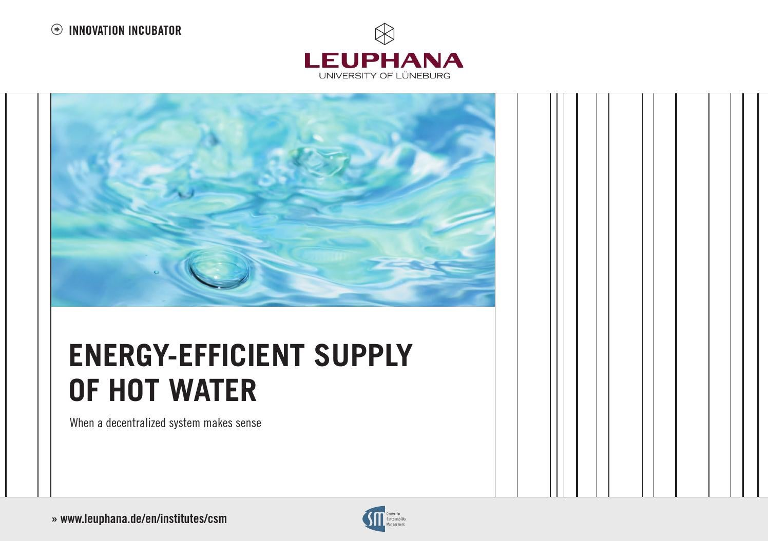 ENERGY-EFFICIENT SUPPLY OF HOT WATER – When a decentralized system ...
