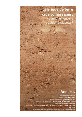 La brique de terre crue compress e pour une nouvelle for Construire sur une terre agricole