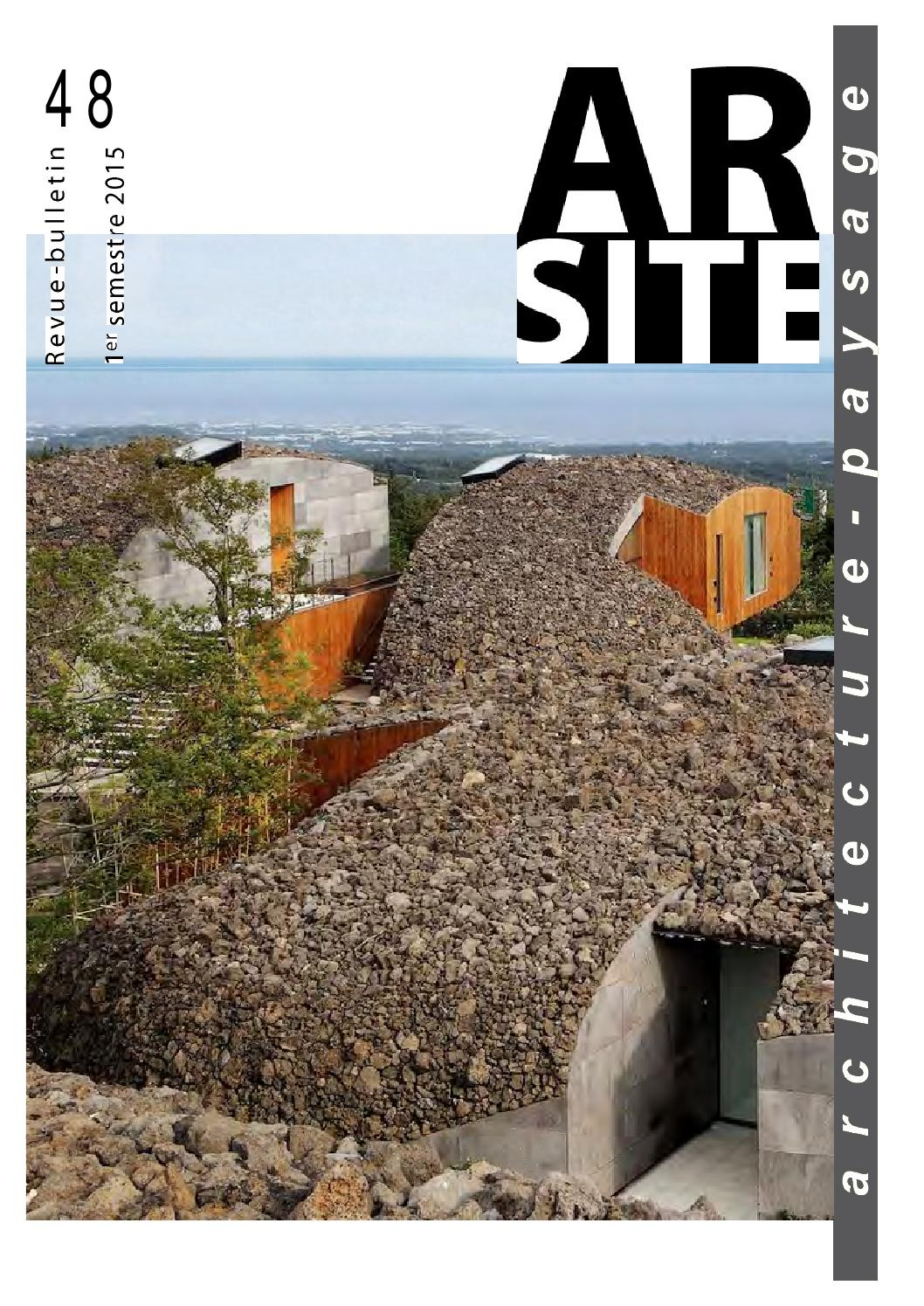 a38690ff059a Arsite n° 48 • juin 2015 by AR SITE - issuu